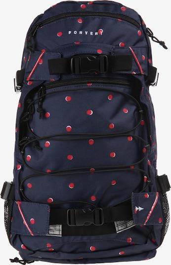 Forvert Rucksack 'Louis' in nachtblau / rot, Produktansicht