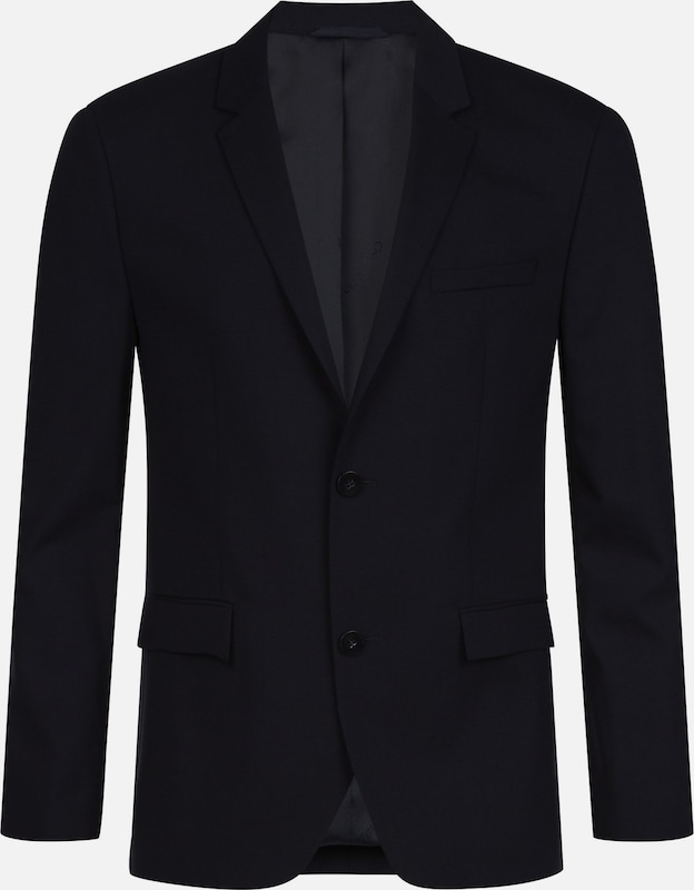 Calvin Klein Fitted Wool Stretch Blazer in nachtblau, Produktansicht