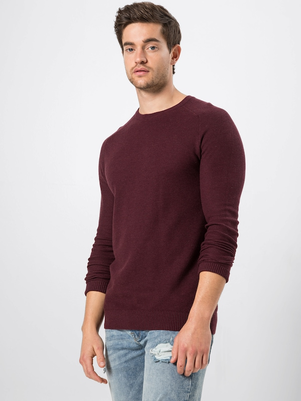 Esprit over Bordeaux Pull 'honeycomb' En cjLRAq435