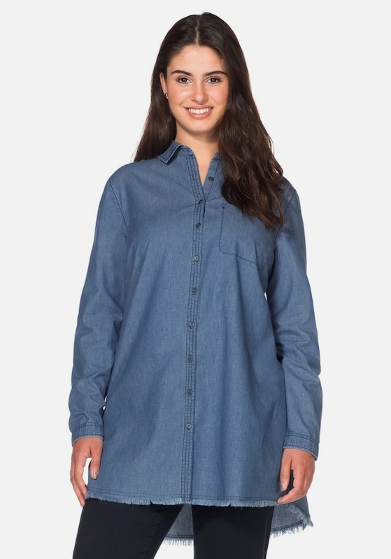 sheego casual Jeansbluse