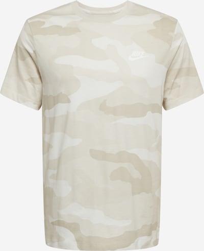 Tricou Nike Sportswear pe bej / alb, Vizualizare produs