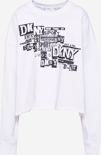 DKNY Performance Sweatshirt 'NEWSPAPER' in de kleur Zwart / Wit, Productweergave