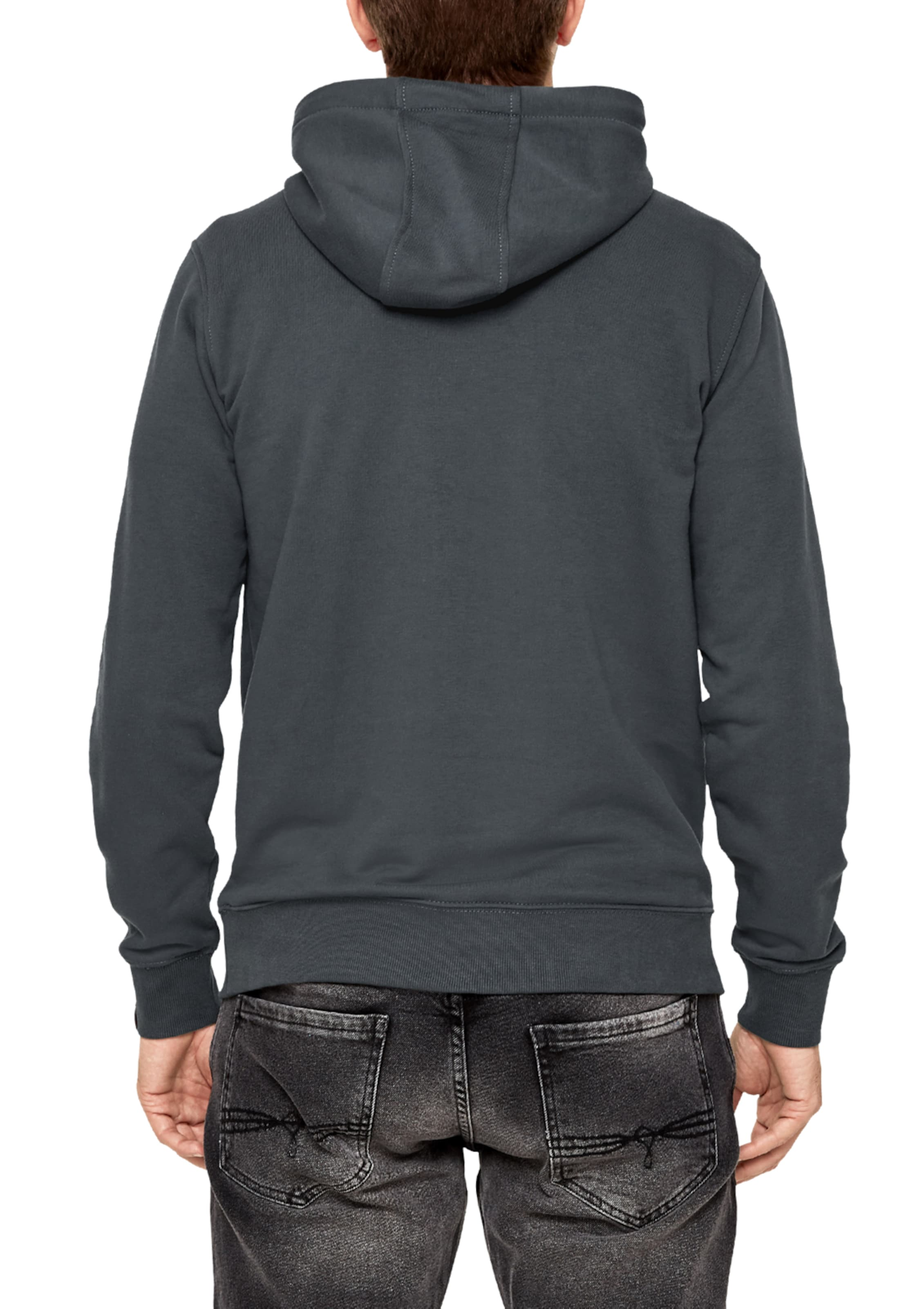 S oliver Label Hoodie Dunkelgrau 'authentic' Red In vmNw8nOy0