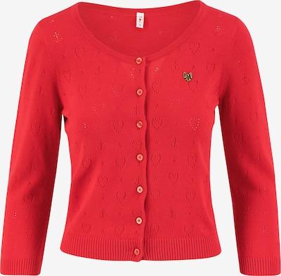 Blutsgeschwister Logo Roundneck Cardigan Short Sweatjacken in rot, Produktansicht