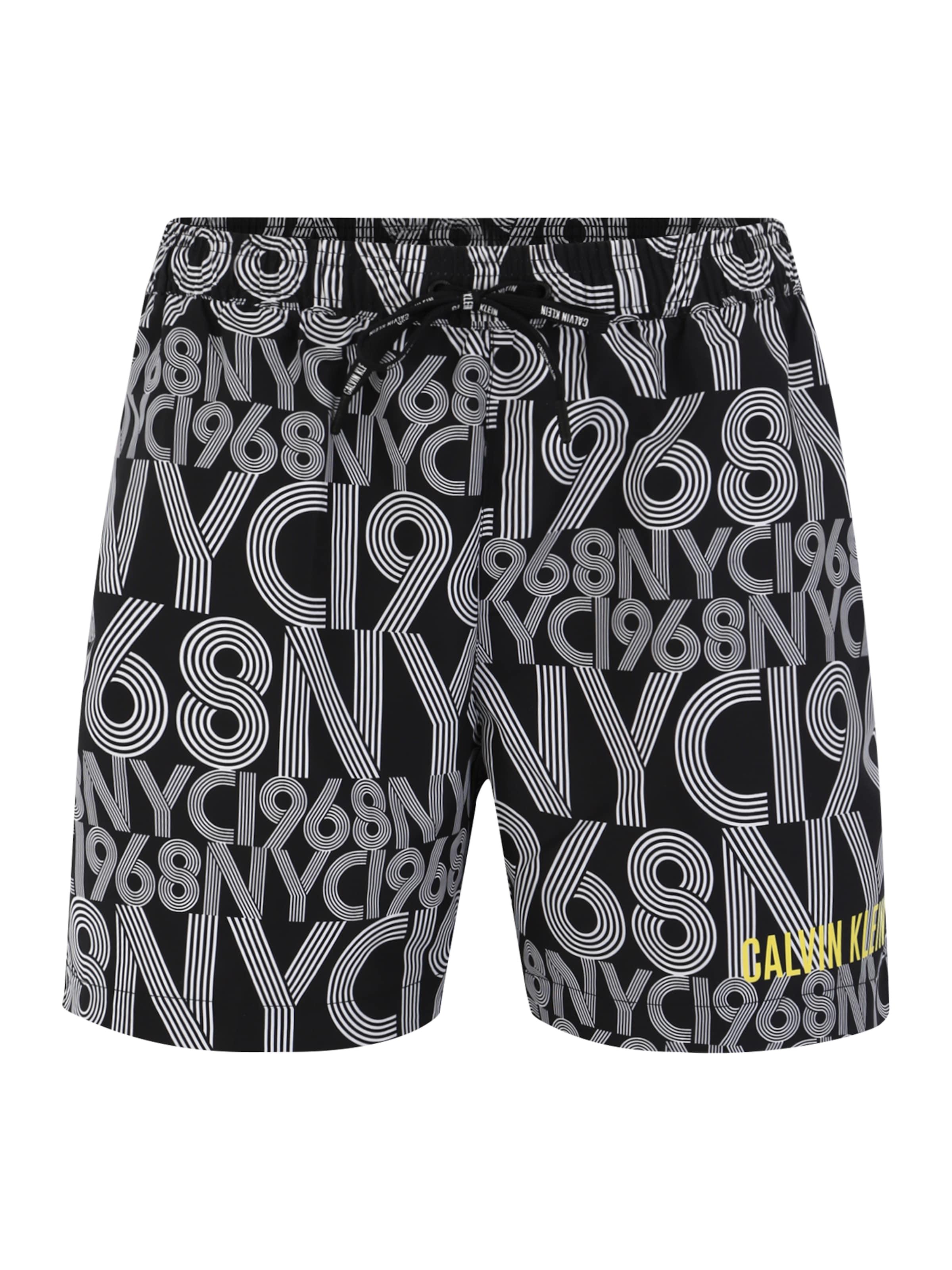 Badeshorts Calvin Klein Swimwear In GrauSchwarz mw08vNn