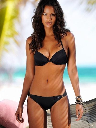 LASCANA Dół bikini 'Sofia' w kolorze czarnym, Podgląd na modelu(-ce)