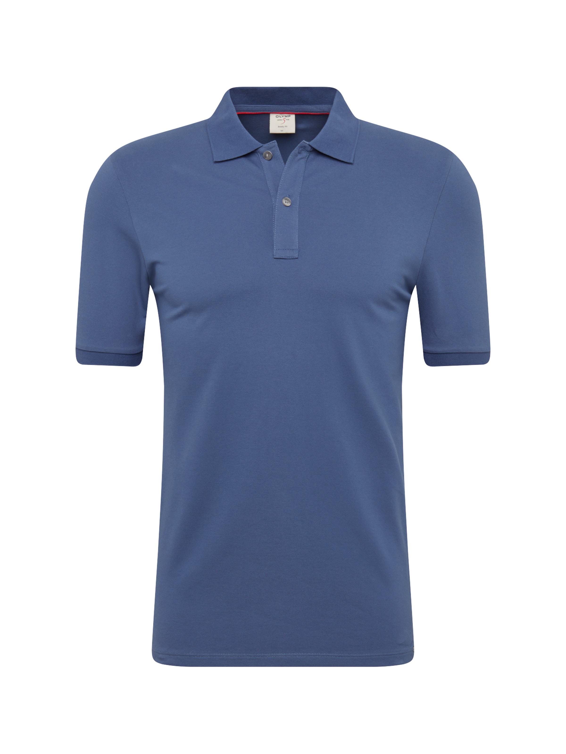 Cotton' Polo 'level En 5 Olymp Casual T Indigo shirt xqPwnUYA