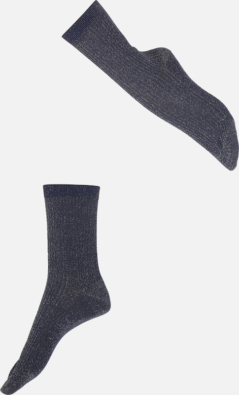 FALKE Socken 'Shiny Rib SO' in blau, Produktansicht
