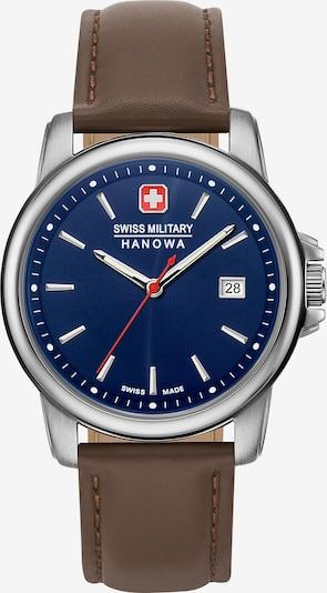 SWISS MILITARY HANOWA Uhr in blau / braun / silber, Produktansicht