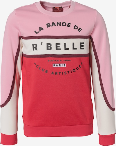 Scotch R'Belle Sweatshirt in rosa / rot / weinrot / weiß, Produktansicht