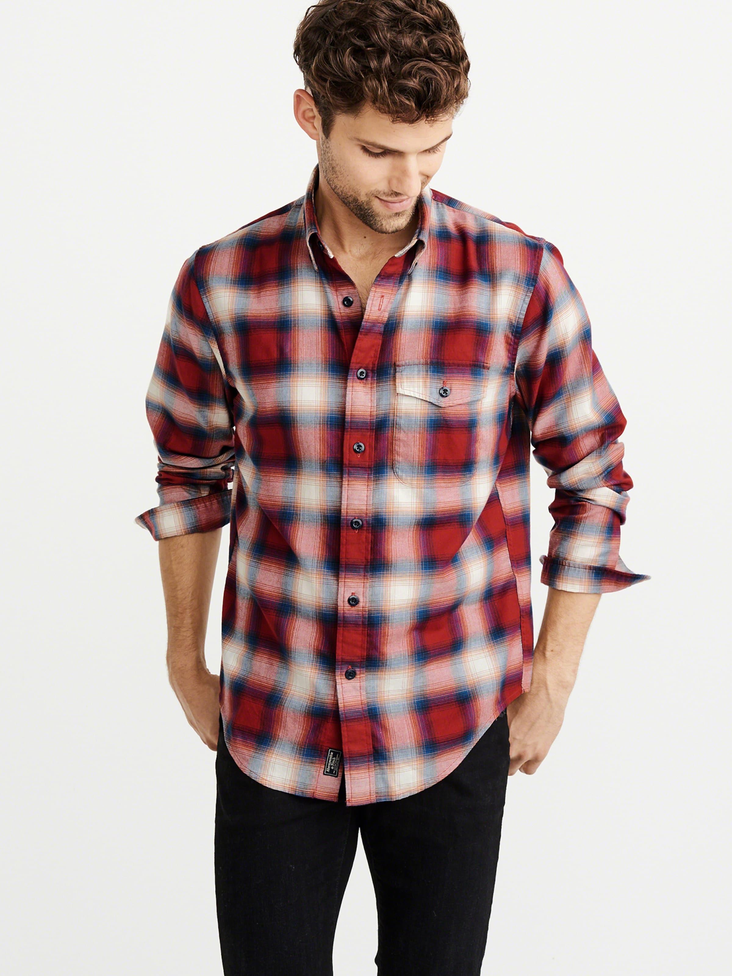 BlauRot Shirt Fitch Twill 6cc' 'stretch Ccmd Naturweiß Abercrombieamp; In Hemd PZukXOi