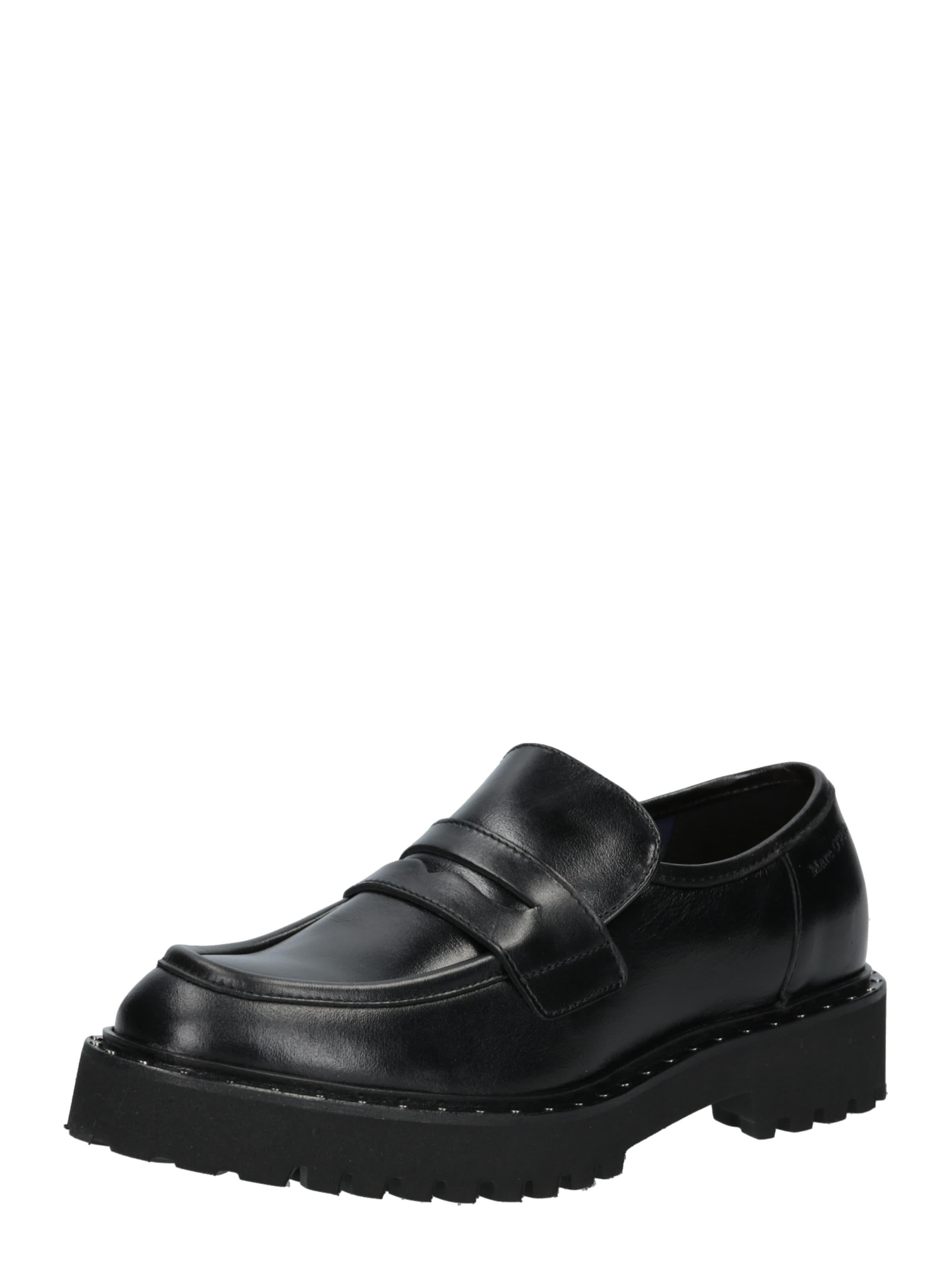 Marc O'Polo Halbschuhe 'Loafer' in schwarz