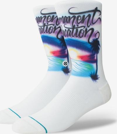 Stance Socke 'Airbrush Vacation' in mischfarben / weiß, Produktansicht