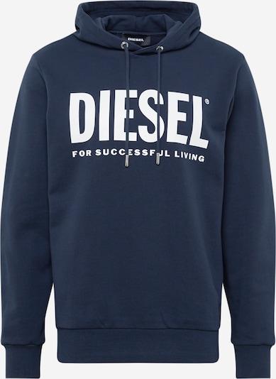 DIESEL Sweatshirt 'S-Gir Hood Division' in blau / weiß, Produktansicht