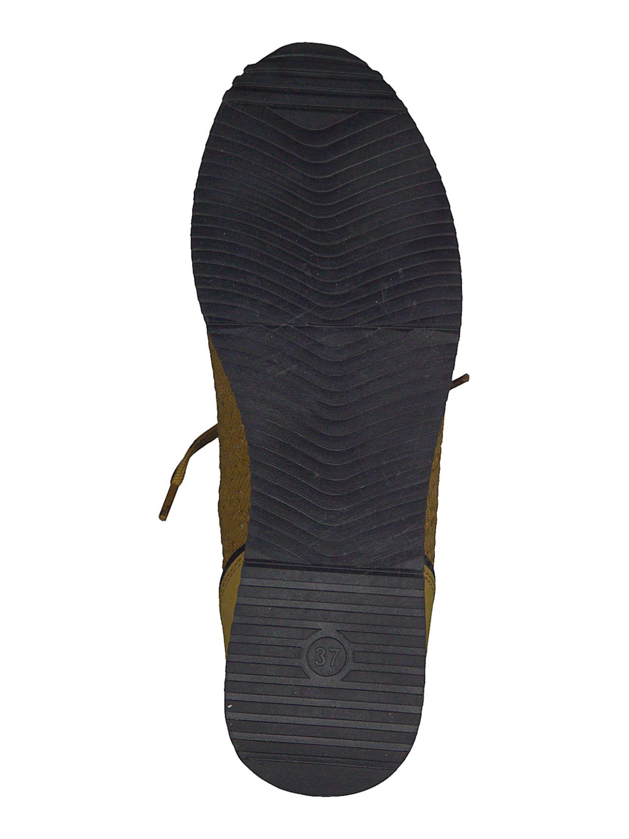 MARCO TOZZI Rövid szárú edzőcipők sáfrány színben
