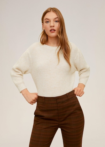 MANGO Pullover 'Mellow' in nude, Modelansicht