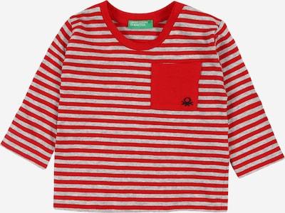 UNITED COLORS OF BENETTON Shirt in graumeliert / hellrot, Produktansicht