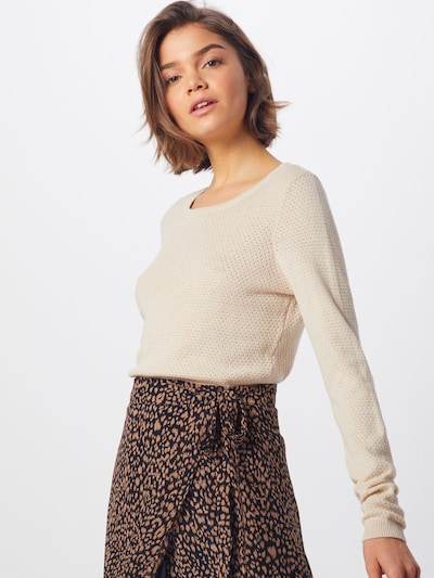 VERO MODA Pullover 'VMMINNIECARE' in creme, Modelansicht
