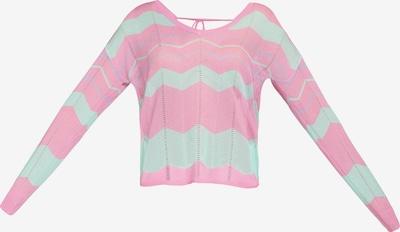 MYMO Pullover in mint / rosa, Produktansicht