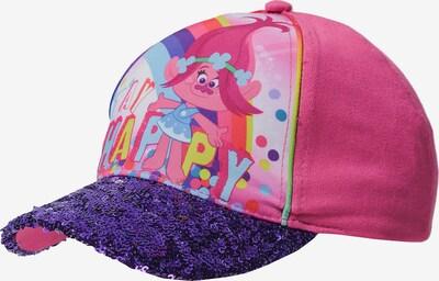 Trolls Cap in hellblau / gelb / dunkellila / pink, Produktansicht