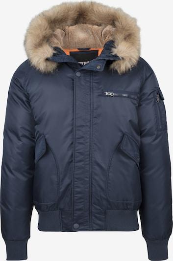 Urban Classics Winterjas in de kleur Nachtblauw, Productweergave
