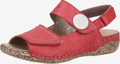 RIEKER Sandalen in pastellrot, Produktansicht