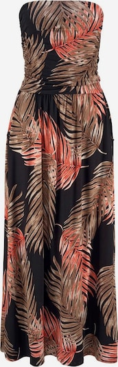 LASCANA Robe en marron / rouge feu / noir, Vue avec produit