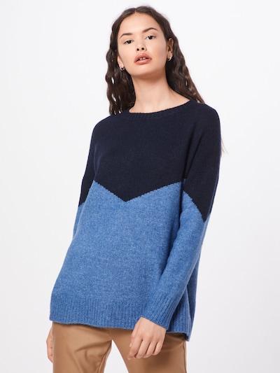 JACQUELINE de YONG Strickpullover in rauchblau / dunkelblau, Modelansicht