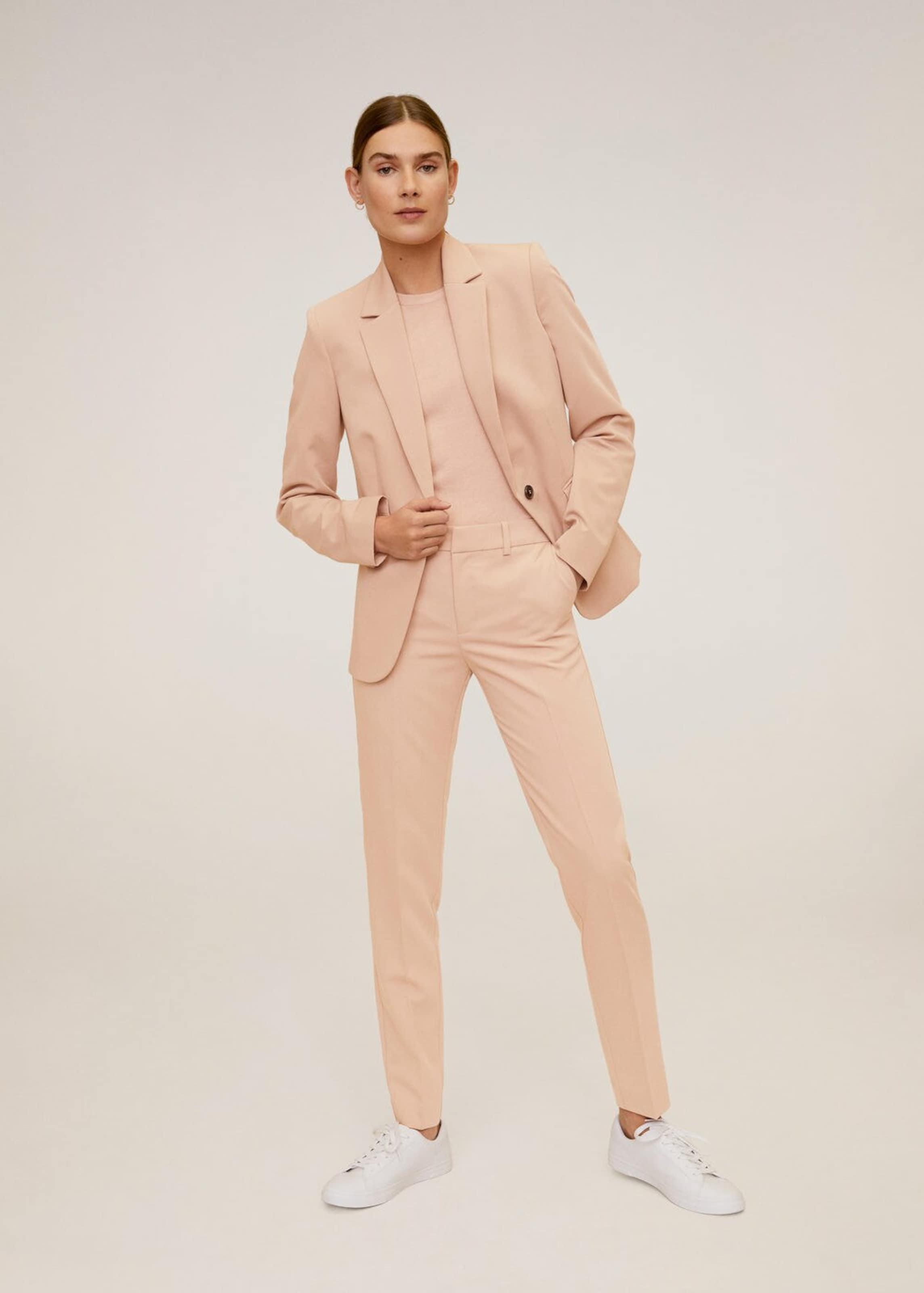 MANGO Nadrág 'Boreal6' rózsaszín színben