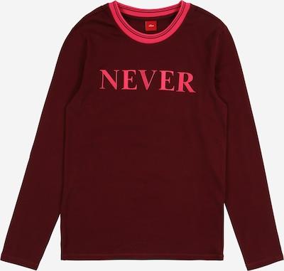 s.Oliver Junior Shirt in pink / weinrot, Produktansicht