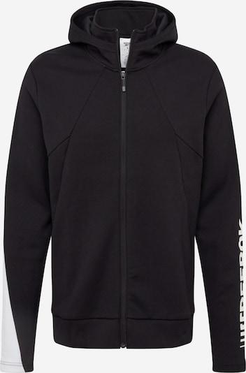 REEBOK Sportsweatvest in de kleur Zwart / Wit, Productweergave