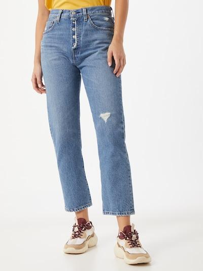 LEVI'S Jeans '501® Crop' in blau, Modelansicht