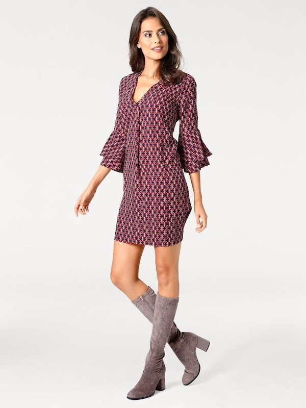 Bc Best Connections By Heine Print Dress With 3/4 Sleeves
