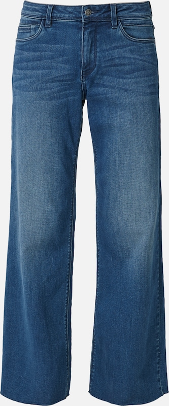 S.Oliver rot LABEL Jeans 'Smart Wide' in blaumeliert  Mode neue Kleidung