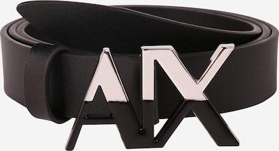 ARMANI EXCHANGE Pas 'PLATE BELT' | črna barva, Prikaz izdelka
