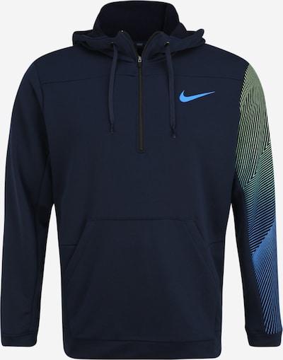 NIKE Sportsweatshirt in de kleur Blauw / Marine / Geel, Productweergave