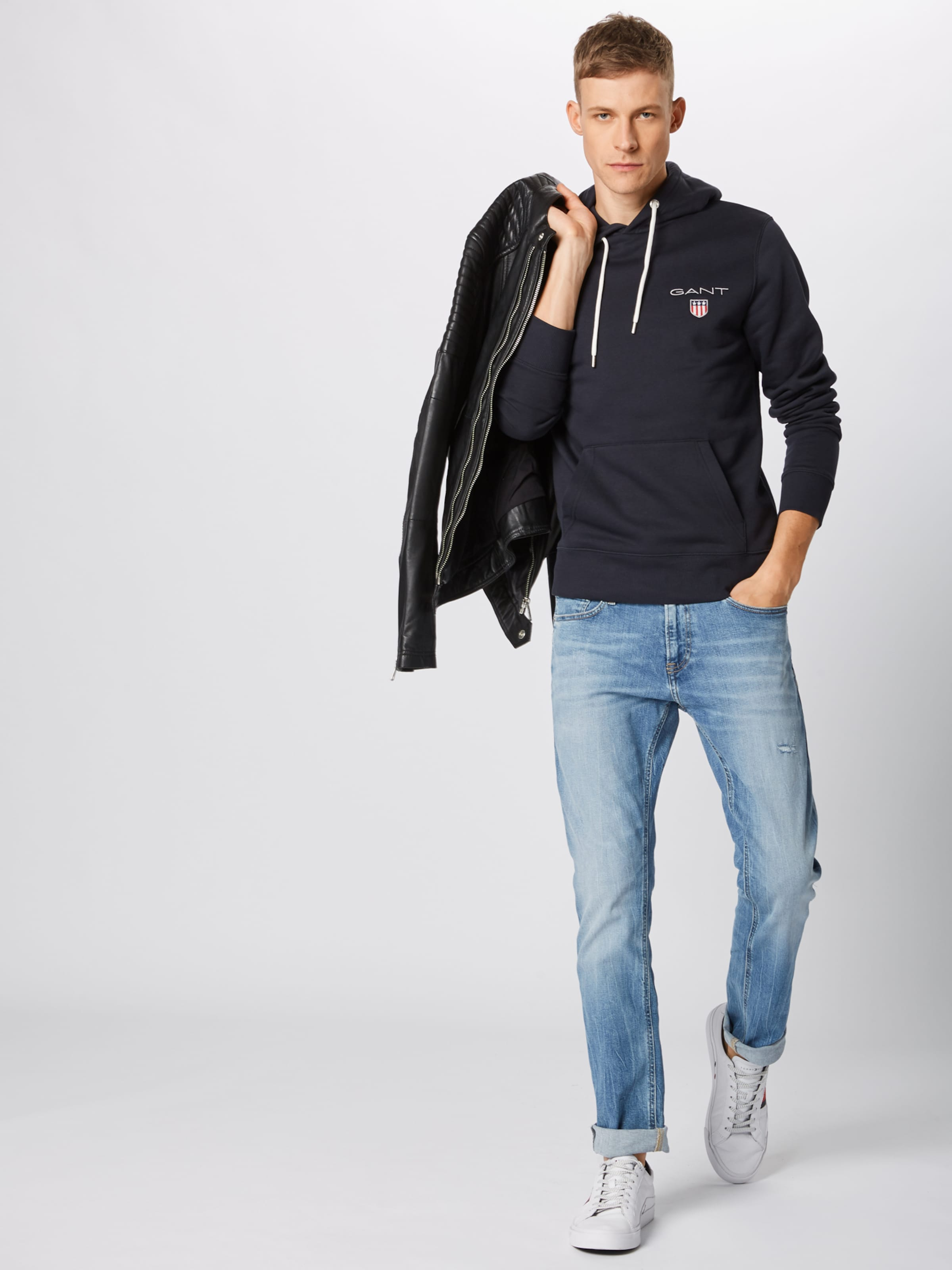 Sweat Gant Shield En Hoodie' shirt 'medium Noir 4RjALq35
