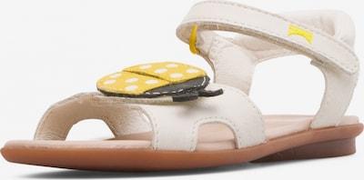 CAMPER Sandale 'Right' in creme / gelb / schwarz / weiß, Produktansicht