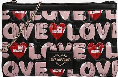 Love Moschino Torba na ramię w kolorze różowy pudrowy / czerwony / czarnym, Podgląd produktu