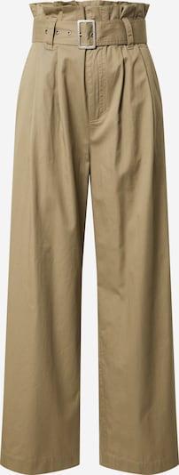 mbym Bukser med lægfolder 'Tasha' i khaki, Produktvisning