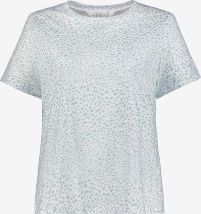 Ulla Popken T-shirt en menthe / blanc, Vue avec produit