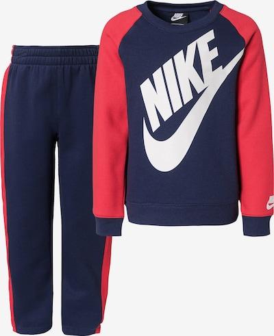 Nike Sportswear Joggingpak 'Futura Crew' in de kleur Marine / Grenadine / Wit, Productweergave