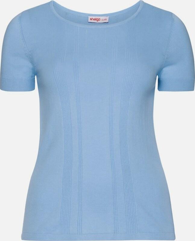 Sheego class Pullover mit kurzem Arm in hellblau  Freizeit, schlank, schlank