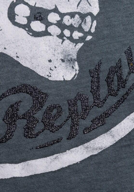 REPLAY T-Shirt mit Rocker-Print