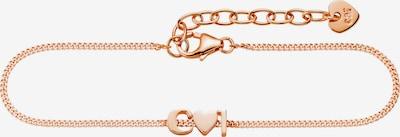 caï Armband 'Love' in rosegold, Produktansicht