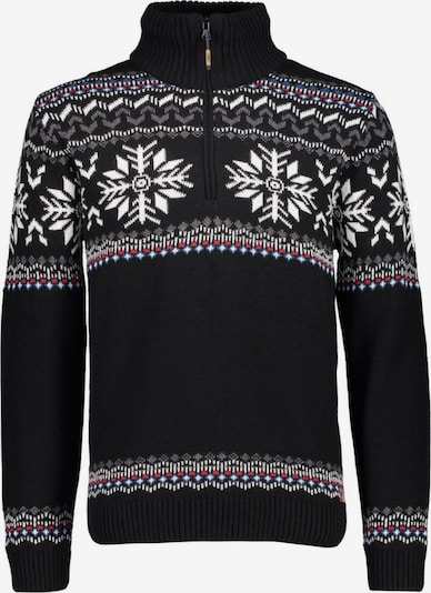 CMP Pullover in taupe / rot / schwarz / weiß, Produktansicht