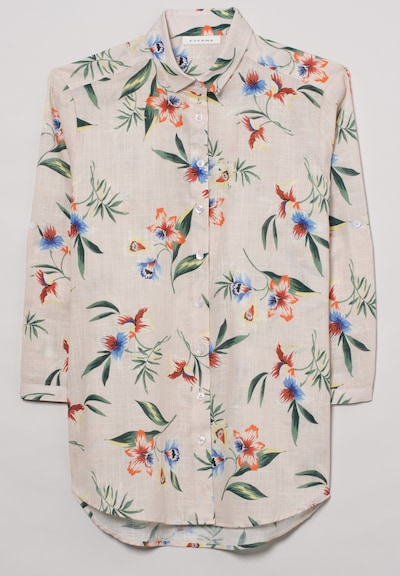 ETERNA Dreiviertelarm Bluse MODERN CLASSIC in mischfarben, Produktansicht