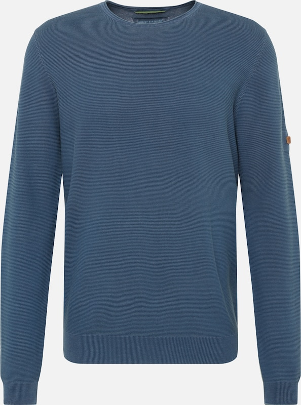 CAMEL ACTIVE Trui 'crew neck gmt dyed' in de kleur Smoky blue, Productweergave
