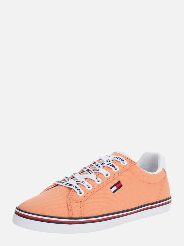 Tommy Jeans Sneakers laag 'HAZEL 1D' in Sinaasappel Wit