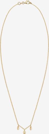 ELLI Halskette 'Muschel' in creme / gold, Produktansicht